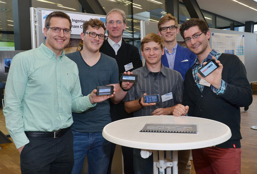 App winners shows off their cell phones