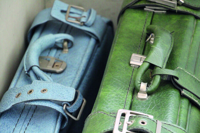 Two suitcases close up