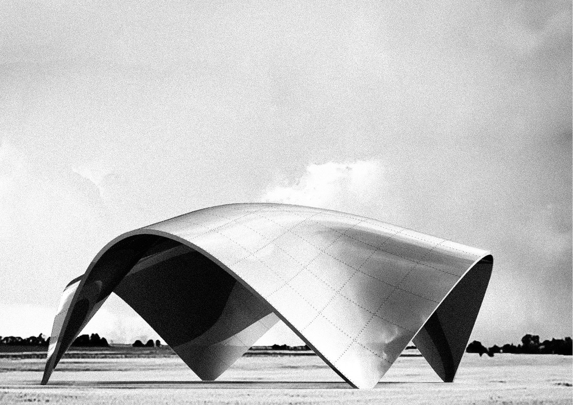 shell structure composed of sheet metal panels