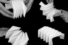 Paper models of folding structures