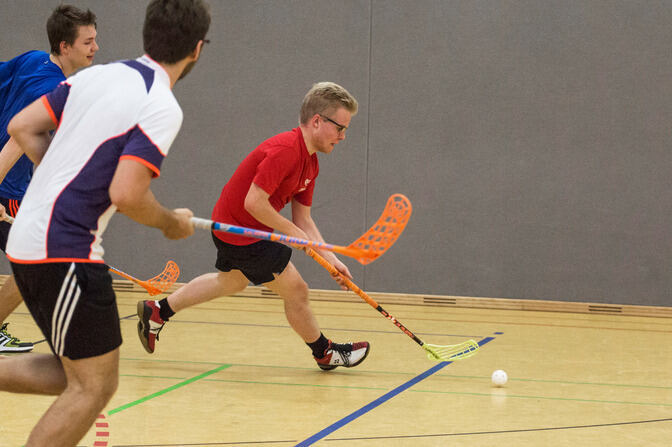 Hockeyplayer dribbling