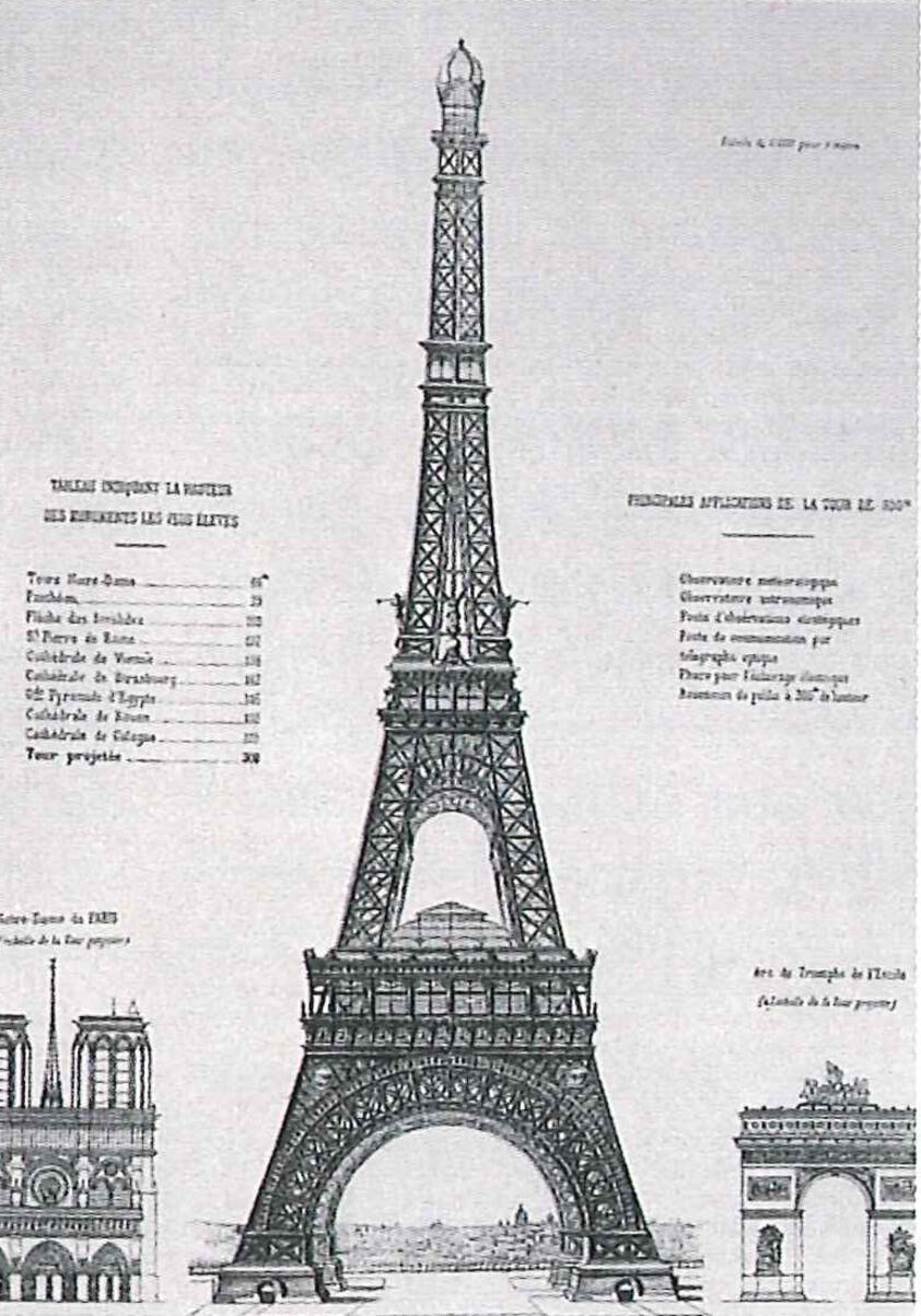 preliminary design Eiffel 1885