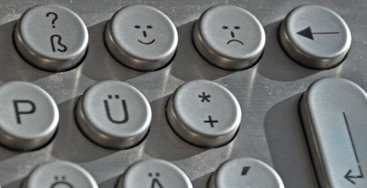 Keyboard with smiley faces